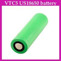 2600mah   SONY 2600mah VTC5 US18650 battery High dry li-ion battery 3.7V 30A battery Green color VS VTC4 For e cigarette mechanical mod UPS 0204098-1