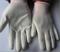 Wholesale Clean PU Gloves Knitted Anti static gloves Nylon gloves coated Gloves