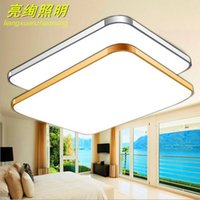 Wholesale Led ceiling lamps ultra thin package post led living room ceiling lamps simple rectangular aluminum acrylic led bedroom lamp