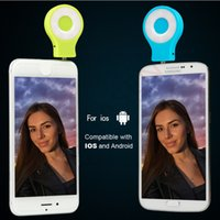 Wholesale Mini LED Sync Flash Light Built in cold and warm LED Lights For iPhone s s front mobile phone camera Enhancing