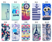 iphone 5c - Owl Flower Elephant Tower D Printed flip Wallet Leather Pouch stand Case For For iphone S C S i6 plus S4 S5 S6 edge note4 kinds style