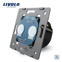 al por mayor interruptor de la pared del tacto de control remoto-Livolo Interruptor alejado estándar de la UE sin el panel del vidrio cristalino, luz de la pared Interruptor táctil alejado + indicador del LED, VL-C702R