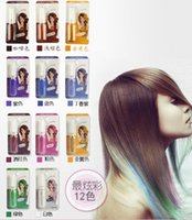 Wholesale Color Hair Mascara Non toxic Mix Colors Dye Pastel Professional Temporary Hair Color Highlights Streaks Mascara