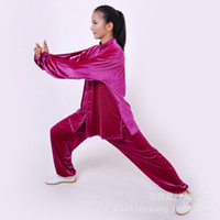 Wholesale retail imports of South Korea down the velvet warm winter clothing practicing martial arts tai chi clothing rose red
