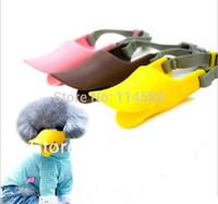 Wholesale Soft Cozy Dog Pet Silicone Muzzle Quack Duck bill designer Protection Mask Cute