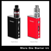 Wholesale Original SMOKTECH Micro One Kit Max W Output SMOK Micro One R80 TC Starter Kit SMOK R80 E Cig Kit Free DHL