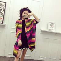 Wholesale LJJG83 Women Warm Pashmina Wrap Rainbow Printting Colorful Shawl Scarf Cashmere Shawls Scarf Ponchos Scarf scarves Shawl