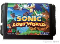 Wholesale Sega cartridges bit genesis MD game card sonic the lost worlds