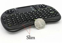 Wholesale 20X Wireless Keyboard rii mini i8 keyboards Fly Air Mouse Multi Media Remote Control Touchpad Handheld for TV BOX Android Mini PC FP DHL