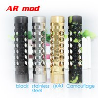 Cheap AR Mod Stainless Steel full Mechanical Mod nemesis kayfun Nimbus patriot hades chiyou atty cat mods 1:1 Clone e cigarettes for 18650 battery