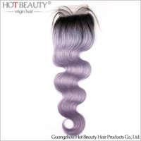 beauty wave purple - New Arrival Fashionable Russion Hair Grey Purple Color Freestyle Lace Top Closure hot beauty hair product