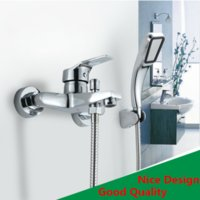 Wholesale Wall Mounted single handle Shower Mixer faucet Brass chrome polish rainfall shower set faucets Christmas gift