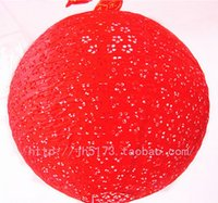 antique red lamp - antique Lantern circle cutout paper lantern lamp cover festive decoration red CM