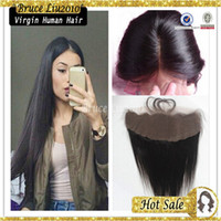 Wholesale Peruvian Virgin Remy human Hair straight unprocessed lace frontal inch peruvian lace frontal cheap closure