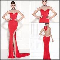 Cheap Tarik Ediz Best High Neck Prom Dresses