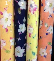 fabric silk georgette - Georgette Composite silk fabric floral chiffon fabric printed chiffon polyester clothing fabric