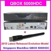 [2pcs / lot] El último adaptador de Blackbox Qbox 5000 + WIFI de Singapur de la caja de Starhub Nagra 3, NUEVA mejora de Blackbox HD-C808