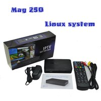 Wholesale Factory Direct Offer IPTV Set Top Box MAG Linux system without including iptv account MAG250 TV BO