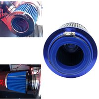 Wholesale Universal Air Intake Car Air Filter Cold mm Dual Funnel Adapter mm Round Tapered Mini Size Blue