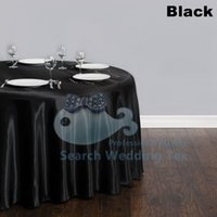 Wholesale Beautiful Looking Black Color Table Cloth Used For Wedding Party Satin Table Cloth Good Quality