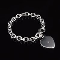 beaded crystal heart - with tracking number Top Sale Silver Bracelet Europe licensing Heart Bracelet Silver Jewelry cheap