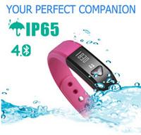 Wholesale New i5 Wristband smart intelligent bracelet X5 pedometer odometer calories sleep sports IOS Andriod Bluetooth IP65 Red Smart Watch DHL