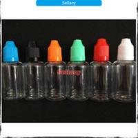 15ml bottles - DHL Electronic Cigarette Empty clear e liquid bottle E cig ml ml ml ml dropper bottle PET plastic squeeze bottles For eGo Atomizer
