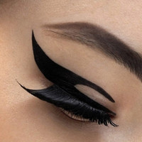 Wholesale 120 pairs eye stickers winged eye liner tattoos shadow makeup eyeliner tatoo stickers beauty styles can choose Eyeshadow Tattoos