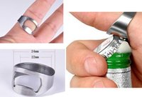 Wholesale originality Stainless Steel Beer Bar Tool Finger Ring Bottle Opener
