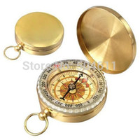 Wholesale Portable Outdoor Classic Brass Pocket Watch Style Compass for Camping Hiking Traveling
