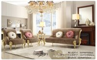Wholesale New classical sofa rose sofa sofa combination of three sets of European style furniture suppliers