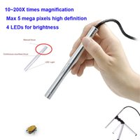 Wholesale 200X Portable USB Digital MP LED Pen Mini HD Manual Focus Microscope Endoscope Magnifier Camera with Tripod