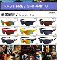 Wholesale AAA good Cycling Sports Sunglasses Outdoor Sun glasses Brand Black NICE FACE Take the sunglasses Dazzle colour glasses