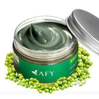 Moisturising acne women - Deep Clean Shrink Pore Mung Bean Seaweed Mud Mask Moisturizing Blackhead Moisturize Skin Women Facial Cream g