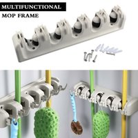 Wholesale Great Quality Wall Mounted Mop Broom Organizer Rack Holder Storage Garden Tools Hanger