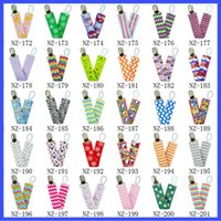 Wholesale 59 Color Baby Chevron Pacifier Clips kids toddlers Cartoon Frozen KT Spider Man Safety Accessorie Baby Swings Baby Clips