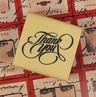 art stamp font - 2013 Wooden seal Art font wooden stamp square thank you style cm PC set