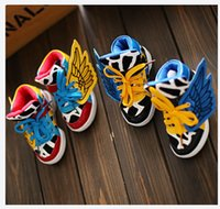 red wing shoes - Hot Fashion Children Wing Shoes Leather Stitching Boys Cool Casual Sneakers Personality Lacing Flats Black Red e