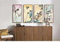 Пейзаж холст живопись пейзаж плакат домашнего декора искусства Япония 4 панели искусство Птицы Утенок цветы 4 сезона Андо Хиросигэ