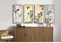 ando art - Scenery canvas painting landscape poster home decor art Japan panels art Birds duckling flowers seasons by Ando Hiroshige