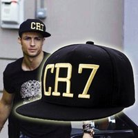 Wholesale 2015 New Fashion Brand Cristiano Ronaldo CR7 Fans Bone Baseball Snapback Cap Adjustable Hiphop Hat Sports