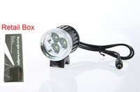 bicycle battery box - 3X CREE XM L T6 LED LM Cycling Bike Bicycle Front Light Headlight Lamp V MAH Battery Pack EU US Charger with retail box