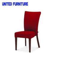 Wholesale Luxury Wooden Red Fabric Dining Chair For Hotel and Home Use hotel restaurant dining chair for desk