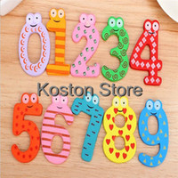 Wholesale 10pcs Set Fun Colorful Magnetic Numbers Wooden Refrigerator Fridge Magnets Baby Kids Children Educational Toys Learn Gift