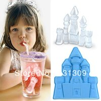 Wholesale New Castle Style Silicone Ice Cube Mold Ice Tray Mould for Party Novelty Life Color Assorted