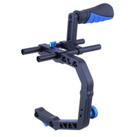 arm install - Video DSLR Camera Handle C Shape Bracket Arm Support Handle Grip Rods Can Installed Mic Monitor Shoulder Rig Accessories