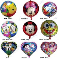 balloon shape pattern - Eightteen Inches Shape And Circular Aluminum Membrane Balloon Festival Decoration Balloons Pattern Mixed Multicolor Suit For Children