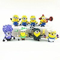Wholesale Despicable Me Minions Set of Action Figures included Minion Ninja Fireman Baker Golfer Stuart Dave Doll Gifts Toys Cake Topper