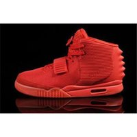 Wholesale Brand New Air Rerto Kanye Skateboarding RED West Mens sports Athletic Basketball Shoes bottom Trainers Super A quaility