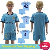 kids football shirts - kids man city Jerseys Manchester Children Soccer Jersey Home Away KUN AGUERO Lampard TOURE YAYA Children football shirts